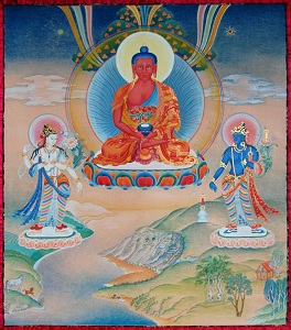 tibetan thanka amitabha god our father